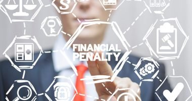 Attorney clicks a financial penalty words