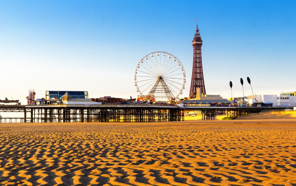 blackpool tower and ferris wheel