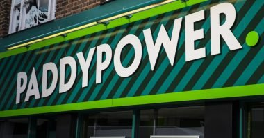 shopfront of a Paddy Power betting shop in Norwich city centre