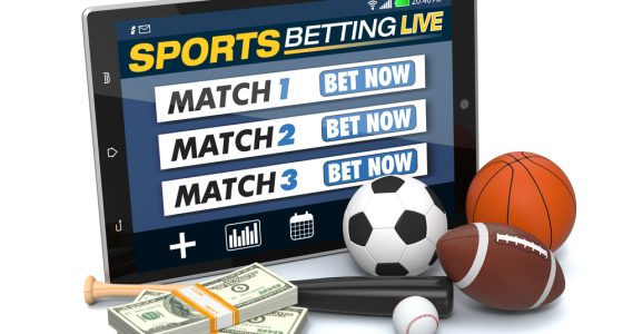 tablet pc with app for sport bets