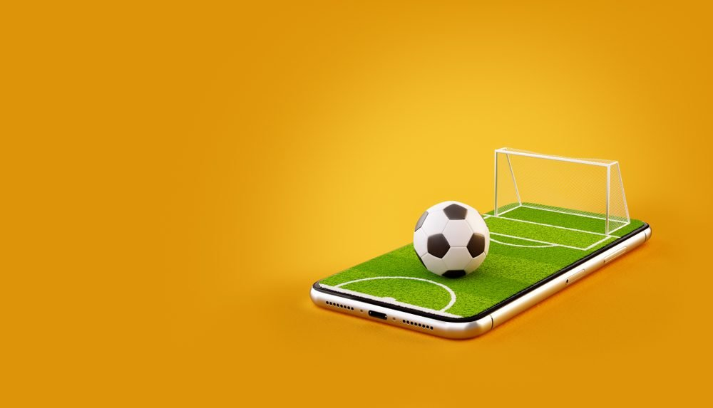 football on smartphone