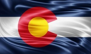 silk colorado flag
