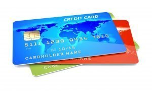 colorful credit cards on a white background 3d illustration