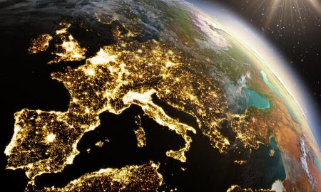 Planet Earth Europe zone using satellite imagery NASA