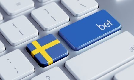 sweden flag and bet keys on keyboard